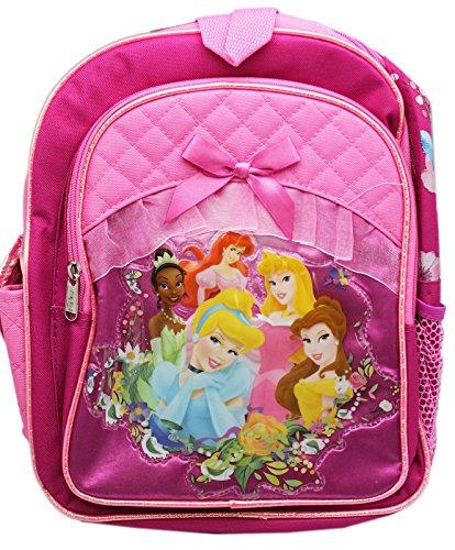 Disney Princess Regal Portrait Pink Colored Small Size Backpack (12in) Disney Princess Portrait