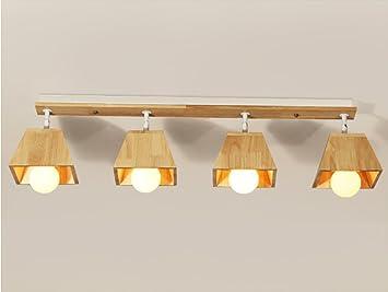 Plafoniere Da Negozio : Momo nordic semplice creativo in legno massello plafoniera girevole
