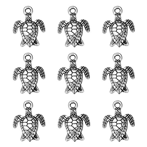 50 pcs Charms tortoise turtle sea Antique Making pendant fit,Vintage Tibetan Silver,DIY bracelet necklace 16x12mm (#50pcs)