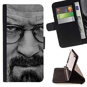 - BREAKING METH - WALTER W - - Prima caja de la PU billetera de cuero con ranuras para tarjetas, efectivo desmontable correa para l Funny HouseFOR Apple Iphone 6