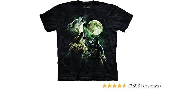 Amazon.com  The Mountain Adult Unisex T-Shirt - Three Wolf Moon Classic   Clothing 24df3c97f35