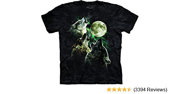 Amazon.com  The Mountain Adult Unisex T-Shirt - Three Wolf Moon Classic   Clothing 88a97d85b