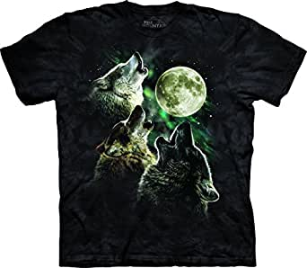 The Mountain Men's Three Wolf Moon T-Shirt Black S