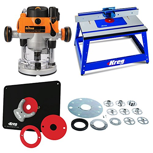 Plunge Router Reviews (Triton MOF001 Router,TGA250 Template Guide,Bench Top Router Table & Insert Plate)