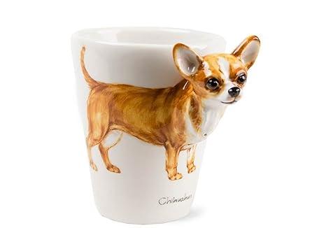 Chihuahua Tazza Da Caffè Realizzata A Mano 8 Oz (23,6 Cl) Colore