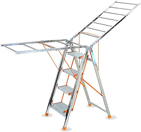 Tendedero Multifunción Plegable Ropa Airer Portable Heavy Duty Plegable Escalera Plegable Ropa FANJIANI: Amazon.es: Hogar