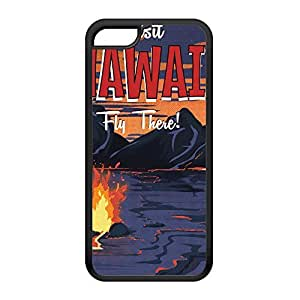 Hawaii Black Silicon Rubber Case for iPhone 5C by Nick Greenaway + FREE Crystal Clear Screen Protector