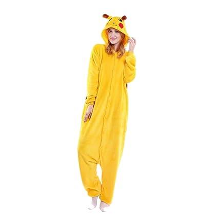 WTUS Pijama Halloween Animales Pikachu Ropa de Casa Traje ...