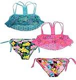 Real Love Girls Bikini Bathing Suit (2 Pack) Flowers, Size 7/8