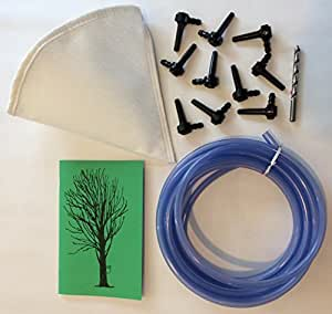Deluxe Maple Syrup Tapping Kit. 10 Tree Taps, 25ft Tubing, Maple Drill Bit, Filter, Guide