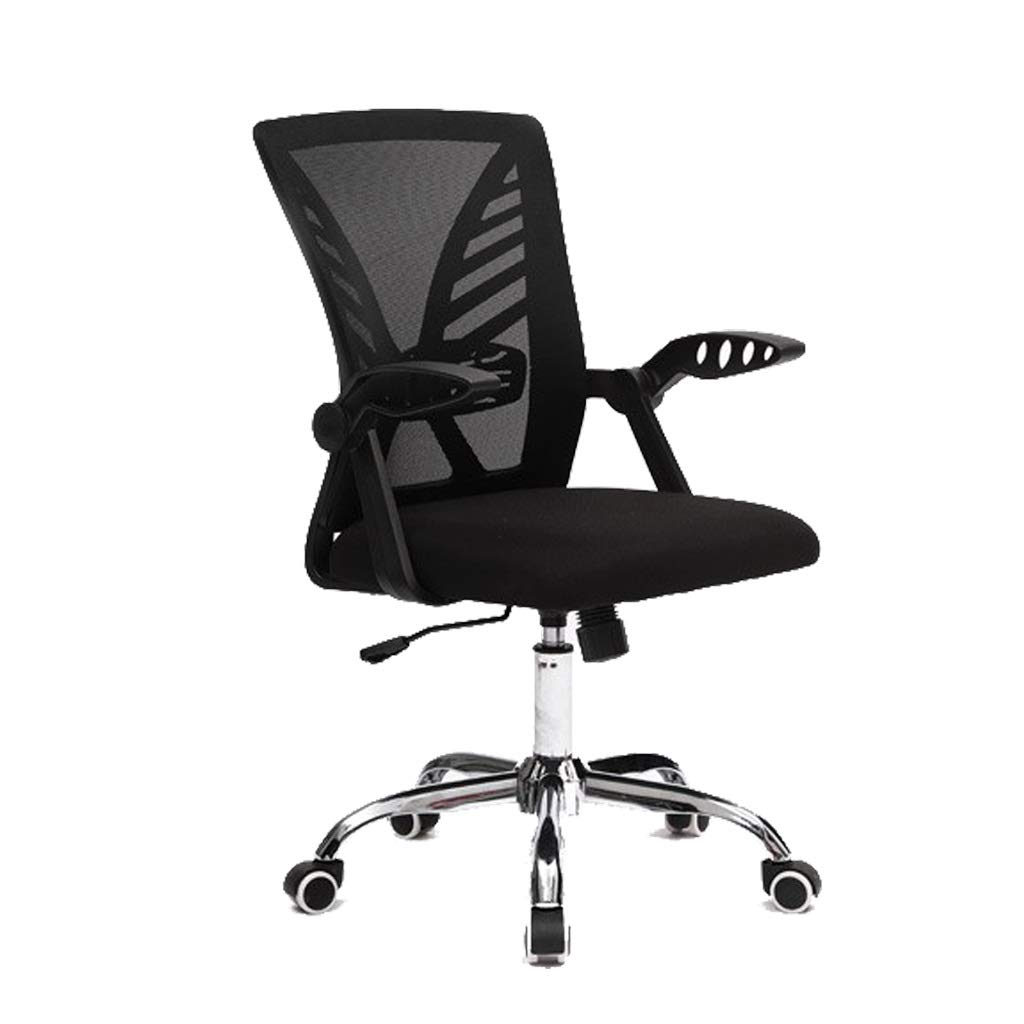 Modern Rotate Office Chair with Adjustable Height Ergonomic Recline Gaming Chair Gaming Chair Game Meeting Office Supplies (Color : Black) by MGJO
