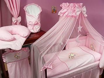 Baby bettset luxus * 8 teilig * riesiger himmel * farbe: mond rosa