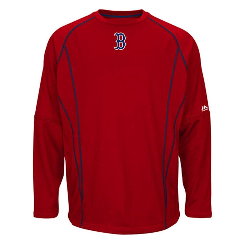 Majestic(マジェスティック) MLB ボストンレッドソックス 2015 On-Field Practice Pullover フリース (レッド) B00UX9YXVKLarge