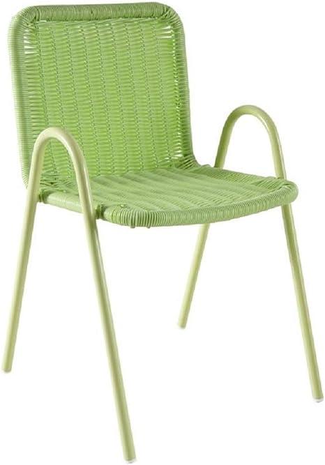 Silla de jardín para niños (plástico), color verde: Amazon.es: Bebé