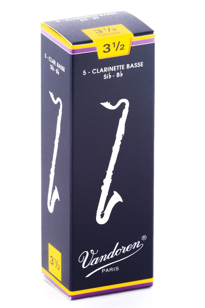 Vandoren Traditional Series Strength 3 Bass Clarinet Reeds - Box of 5 CR123