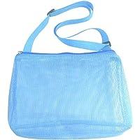 Doherty Bolsa de juguetes de playa, bolsas de malla grandes para niños, bolsas de almacenamiento plegables, bolsa de…