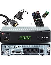 Opticum Sat Receiver SBOX Mini HDTV Digitaal voor satellieten televisie - Media Player functie, HDMI, USB, SCART, Unicable, USB, Astra, Hotbird vooraf geïnstalleerd - 12V aansluiting voor camping + HDMI-kabel