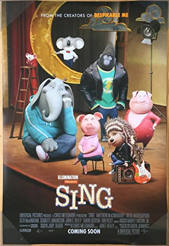 Sing Movie Poster Original Intl Final Scarlett Johansson Taron Egerton
