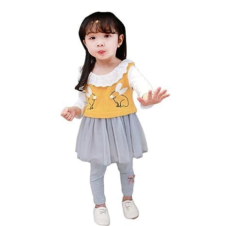 wongfon para ropa infantil Primavera y Otoño trajes niña bebé Dos ...