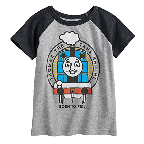 Thomas T-shirt Friends And - Jumping Beans Toddler Boys 2T-5T Thomas & Friends The Engine Graphic Tee 3T Heather Gray