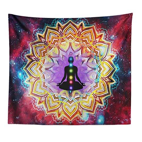 Needlepoint Paisley Brown (Kay CowperHanging Wall Tapestry Tapestry Mandala Hippie Bohemian Decorative Wall Mat)
