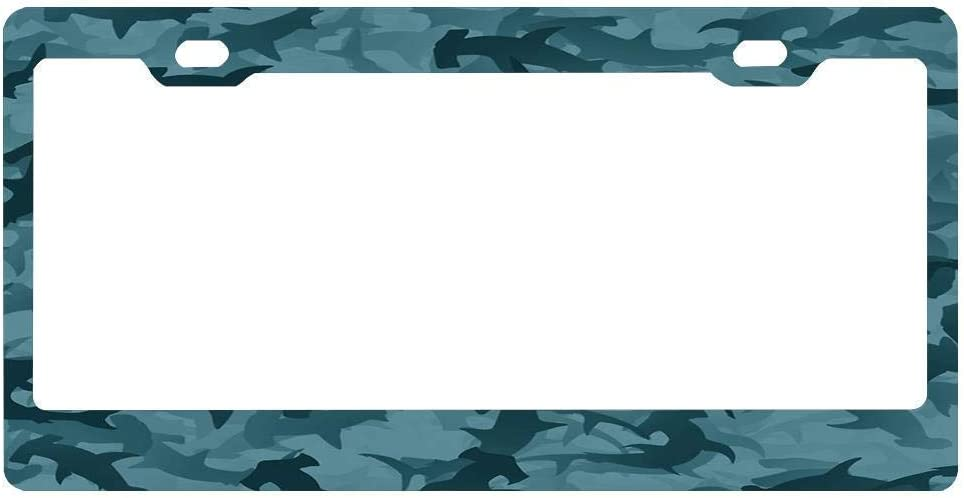 Lplpol License Plate Frame Hammerheads Sharks Applicable to US Standard Cars License Plate