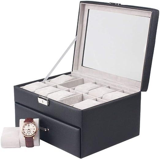 DKZK Caja para 20 de Relojes Organizador de Relojes Caja relojero ...