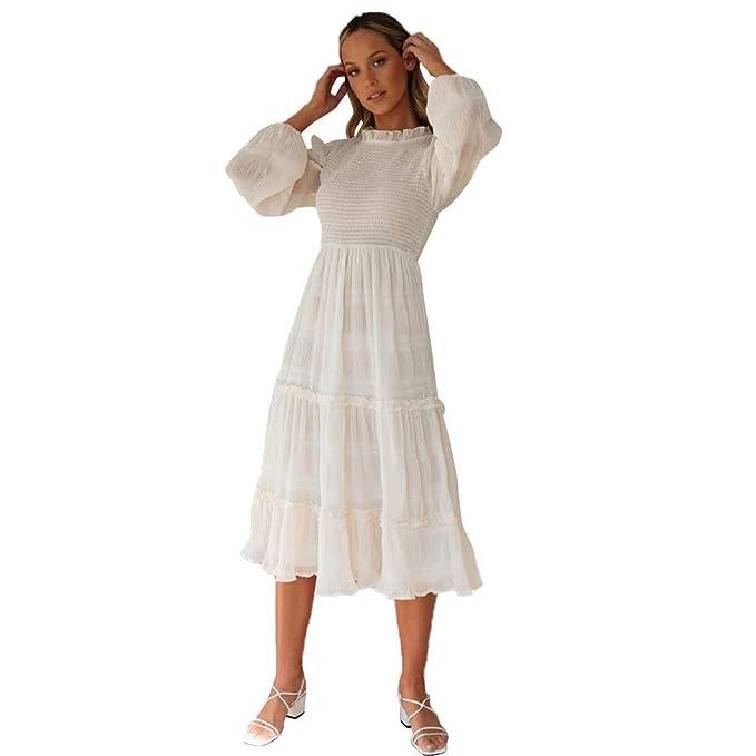 Vestido Largo Maxi sin Mangas con Estampado de Cuello o ...