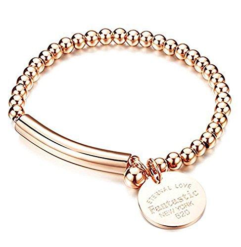 NIDA New York - Rose Gold Plated Eternal Love Beads Bracelet