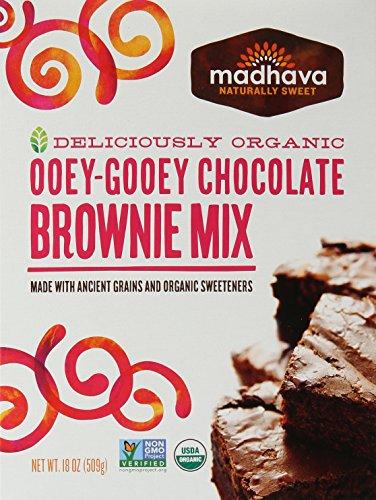 Ooey Gooey Brownies - Madhava Honey Organic Ooey-Gooey Chocolate Brownie Mix, 17.5 oz