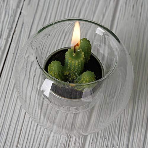 (Mikash Clear Glass Globe Votive Candle Holders Wedding Favor Centerpiece Decorations | Model WDDNGDCRTN - 9523 | 12 pcs)