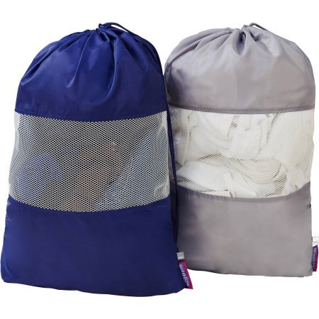 Sanitized 2-Pack Set Laundry Bag with Mesh Window