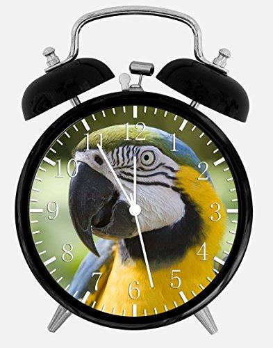 Colorful Parrots Alarm Desk Clock 3.75