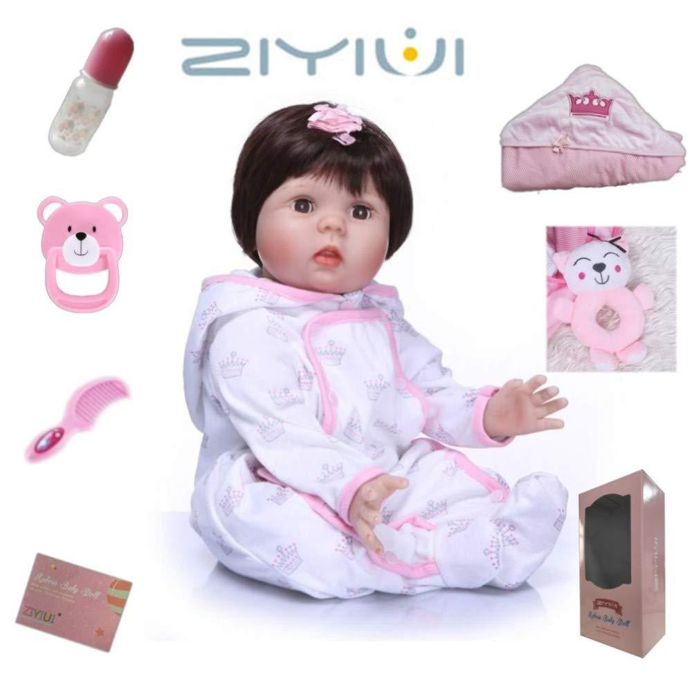 Amazon.es: ZIYIUI Muñecas Reborn Bebé 22 Pulgadas 55cm Puede ...