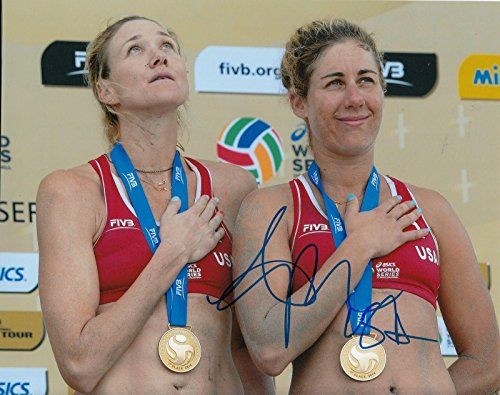 APRIL ROSS signed (BEACH VOLLEYBALL) 8X10 photo AVP OLYMP...