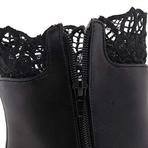 Noir Abl11546 Compensées Femme Sandales Balamasa w4Ixw