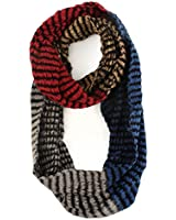 Winter 4 Colorway Block Cute Chunky Thick Knit Loop Cowl Infinity Scarf Ski
