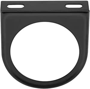 Gauge Bracket Holder, 52mm 2 Inch Universal Single Hole Meter Gauge Pillar Mount Pod Holder Black