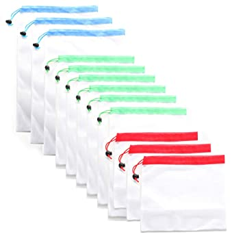 Buy Reusable Produce Bags, KREISELy Washable Mesh Bags 12Pcs
