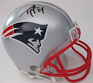 Ty Law, New England Patriots, Pats, Signed, Autographed, Mini Football Helmet, a COA with the Proof Photo of Ty Signing Will Be Included