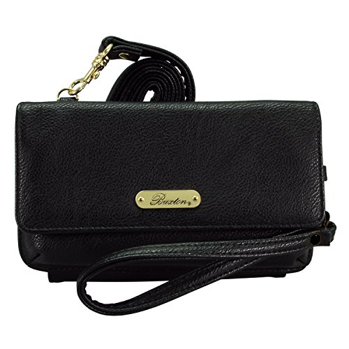 buxton-rfid-womens-convertible-mini-crossbody-bag-credit-card-wallet-cellphone-holder-black