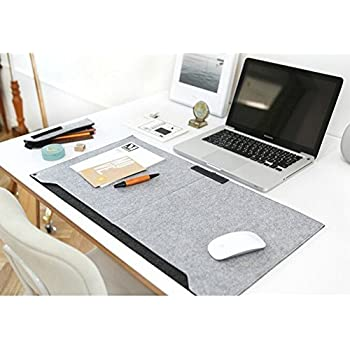 Amazon Com Sztara Multifunctional Felt Desk Mat Laotop