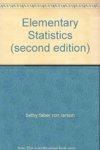 Elementary Statistics (second edition)
