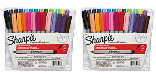 Expo 2 Low Odor Dry-Erase Marker, Bullet Tip, 4 Assorted Colors/Set SAN82074, 2 Packs