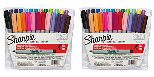 Expo 2 Low Odor Dry-Erase Marker, Bullet Tip, 4 Assorted Colors/Set SAN82074, 2 Packs