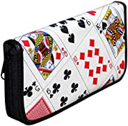 Extra Large Zipper Wallet Made From Real Playing Cards - fun design wallets purses credit play card gift for p