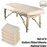 Royal Massage Set of 4 Cotton Massage Flannel Table Fitted Sheets