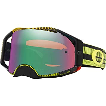 31805202e4 Amazon.com  Oakley Airbrake MX Adult Off-Road Motorcycle Goggles -  Frequency Green Yellow Prizm Jade  Clothing