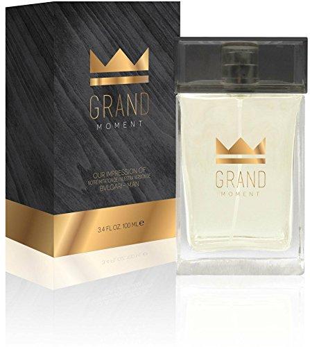 2 Full Size Grand Moment Eau De Toilette Spray for Men, 3.4 Ounce 100 Ml - Scent Similar to Bvlgari - Bulgari Color Collection