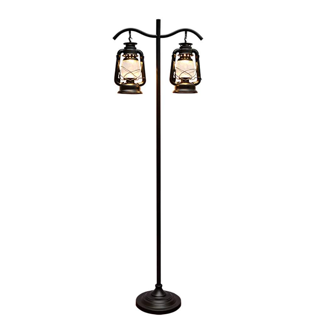 Lámpara de pie, lámpara de Queroseno Negra Doble nostálgica ...
